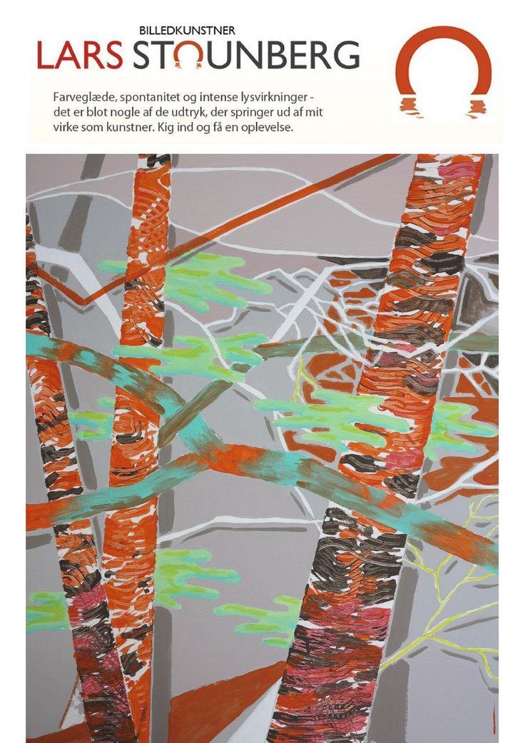 Motiver februar 2015 - malerier af billedkunstner Lars Stounberg  www.stounberg.dk – Farveglæde, spontanitet og intense lysvirkninger – det er blot nogle af de udtryk, der springer ud fra mit virke som kunstner. Så tag et kig på de mange malerier af billedkunstner Lars Stounberg, som er specielt kendt for sine maleriske naturindtryk.