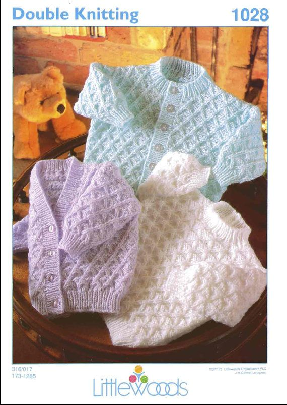 Vintage PDF Baby Knitting Pattern - Littlewoods 1028 - cardigan sweater Instant Download on Etsy, £0.75