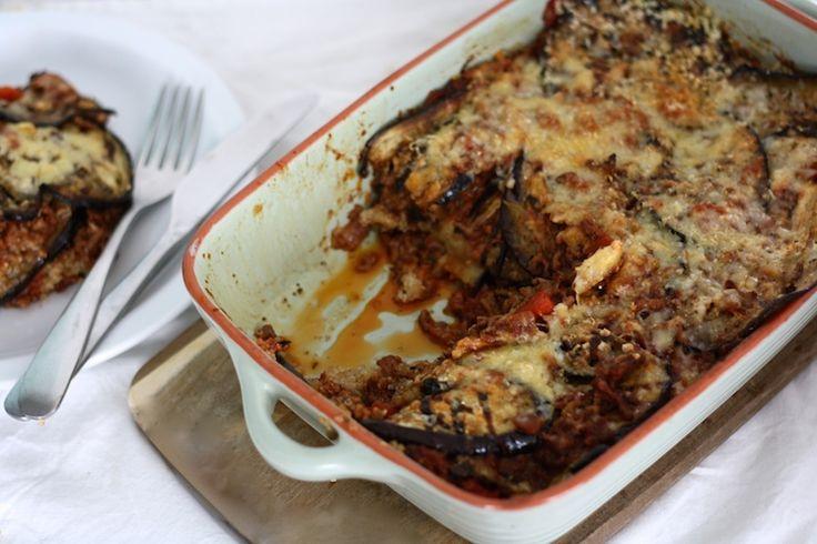 Quinoa-moussaka. Deze ovenschotel is een variant op de klassieke moussaka. #diner #recept