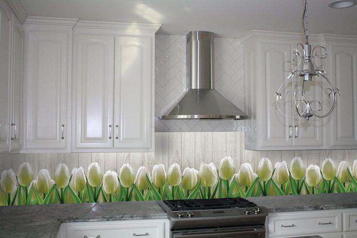 Кухонный фартук Тюльпаны 01. Цена 430 грн. Декор для ванной и кухни, декор и текстиль для кухни, декоративные наклейки, наклейки printable, наклейки на кухню, виниловые наклейки для кухни, декоративные наклейки на мебель.