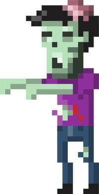 pixel art zombie