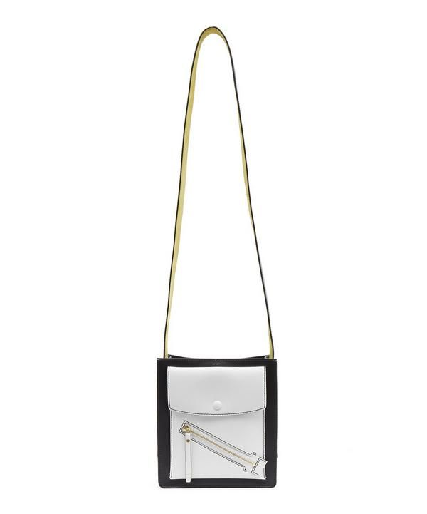 Inspired by the elegant functionality of school satchels, Joseph's Montaigne cross-body bag is set to become a daily essential across the seasons.