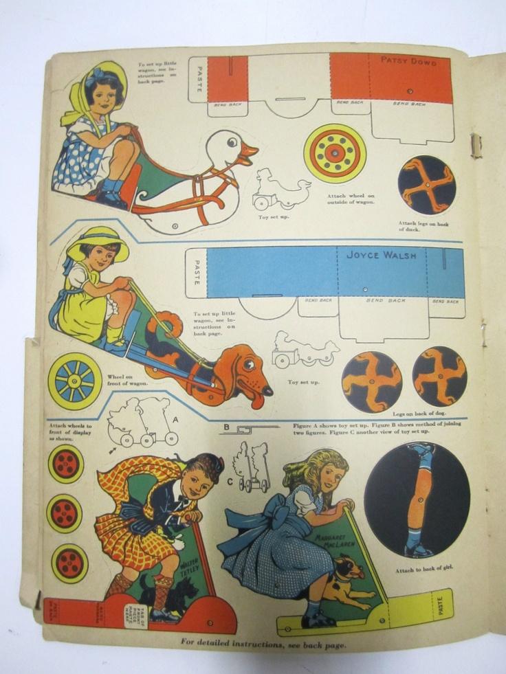 Vtg Antique 1935 NBC Radio Cut Outs Paper Doll Childrens ...