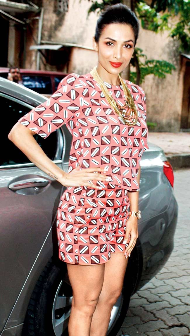 Malaika Arora Khan looked pretty in pink at an event in SoBo.