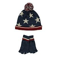 Stars and Stripes Beanie and Gloves   Boys   George at ASDA