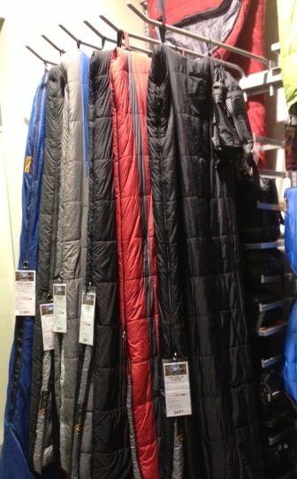 SI Retail Custom hook to display Sleeping bags #retail #shopfitting  Mountain Designs fit out by Barrett Shopfitting Australia https://www.sishop.com.au/blog/your-stores-story-2/your-stores-story-mountain-designs-fit-out-by-barrett-shopfitting-australia/ #retail #shopfitting #Store #design