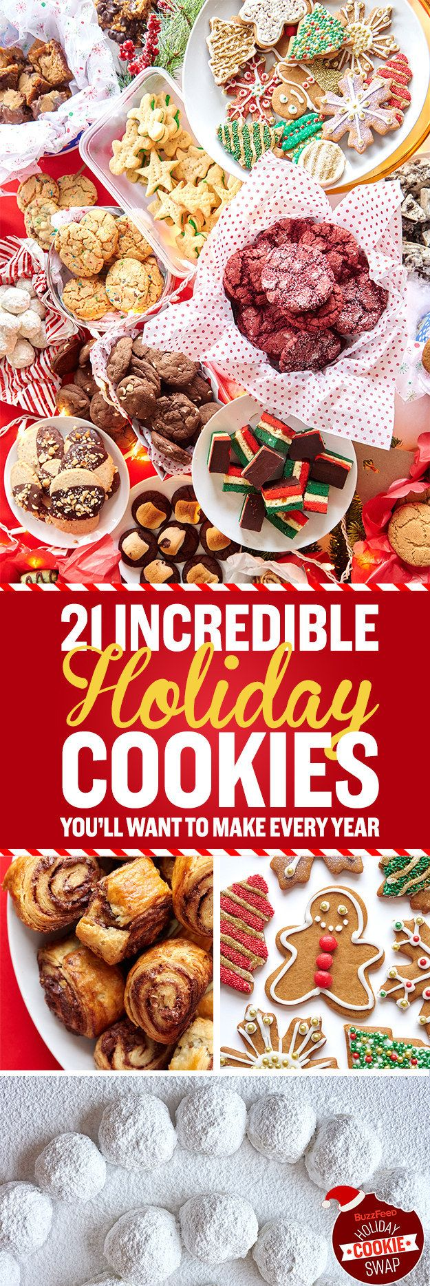 We asked you to post your favorite holiday cookie recipes in the comments of this BuzzFeed post a few weeks ago and on Facebook — a ~virtual cookie swap~ of sorts. | 21 Cookies You Need To Make For The Holidays