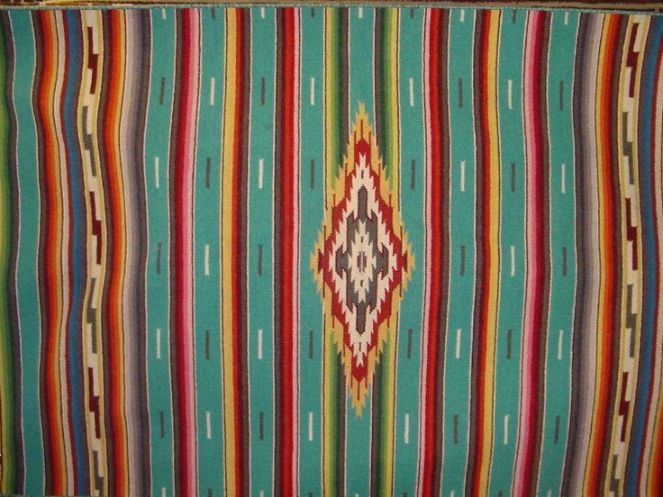 Mexican Saltillo Serape. Terrific vintage piece. It should be framed.