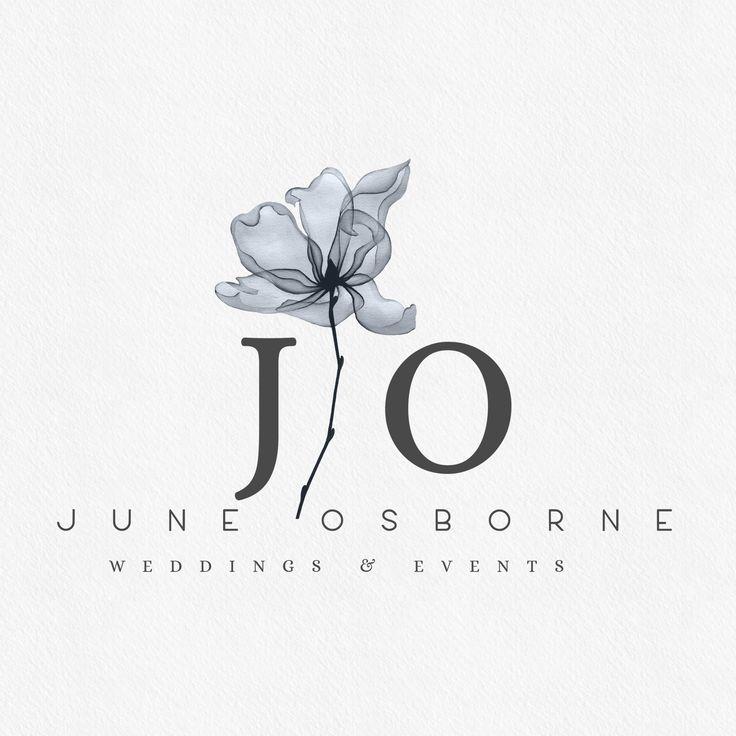 Wedding Branding Ideas: Blue Botanical Wedding Photography Logo By Lovely Confetti