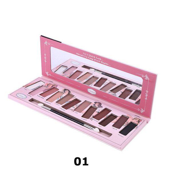 Maquiagem Matte Eyeshadow Palette 12 Cores de Sombra Brilho Nu Minerais Em Pó Cosméticos Shimmer Paleta Da Sombra do Pigmento em Sombra de olho de Beleza & Saúde no AliExpress.com | Alibaba Group