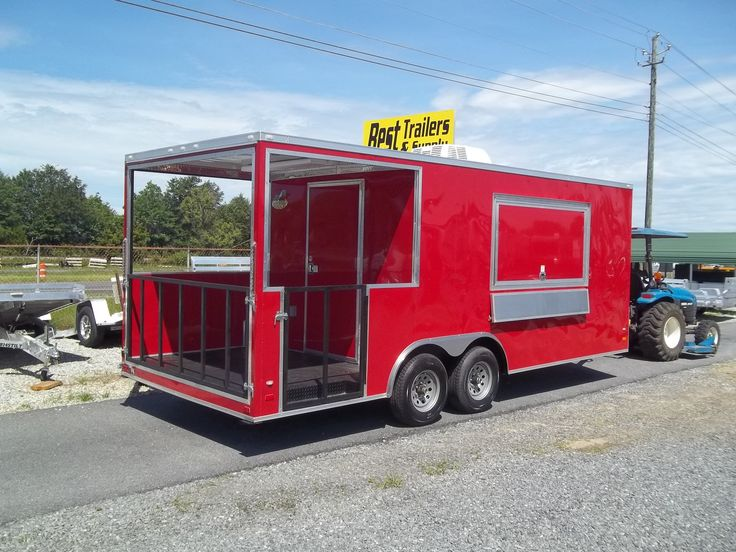 Enclosed 8 5 X 20 Porch Trailer W Sinks Concession
