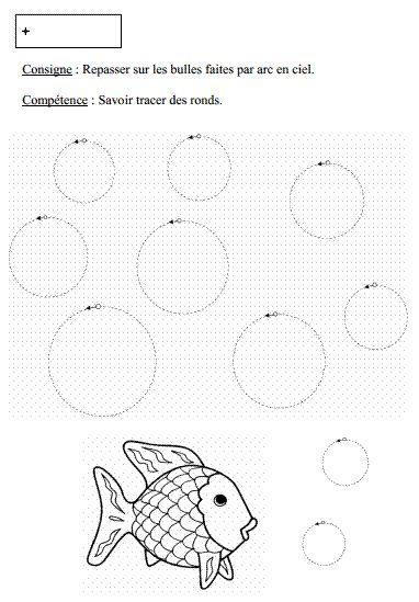 tracer des ronds et les colorier ps