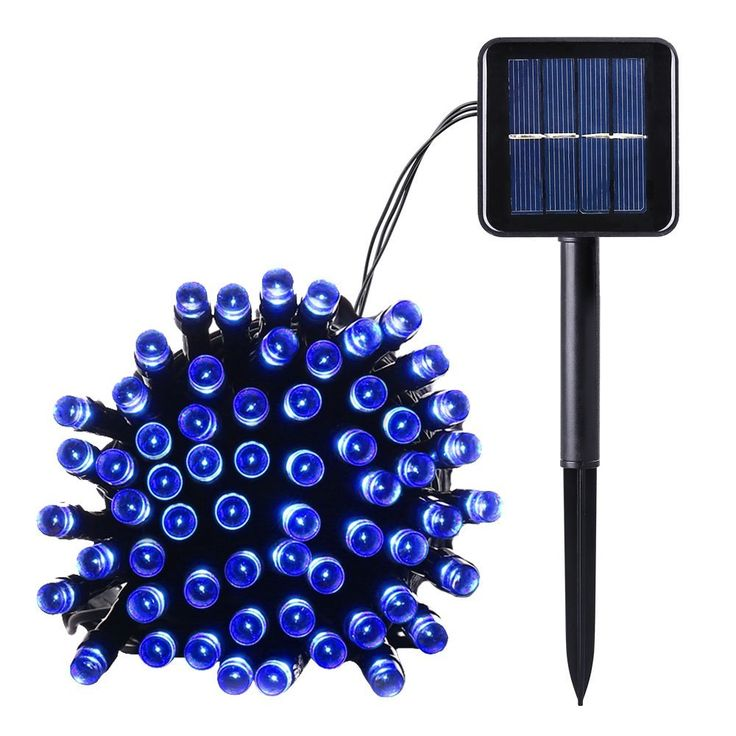 Qedertek Outdoor 100 LED Waterproof Solar String Lights, 40FT Starry Fairy Lighting Decor for Christmas Trees, Garden, Patio, Wedding, Party and Holiday Celebration, Blue ** Remarkable product available now. : Wedding Decor