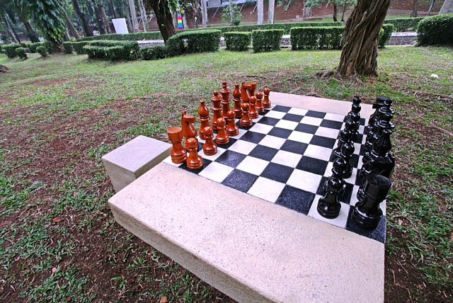 Outdoor Chess Table, Jakarta-Indonesia