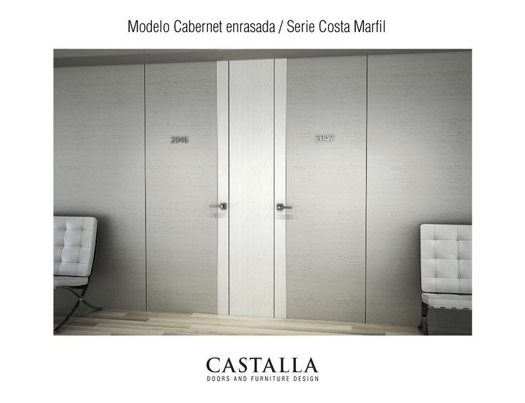 Serie Costa Marfil • Puerta Cabernet enrasada | Puertas Interiores | Puerta de Interior