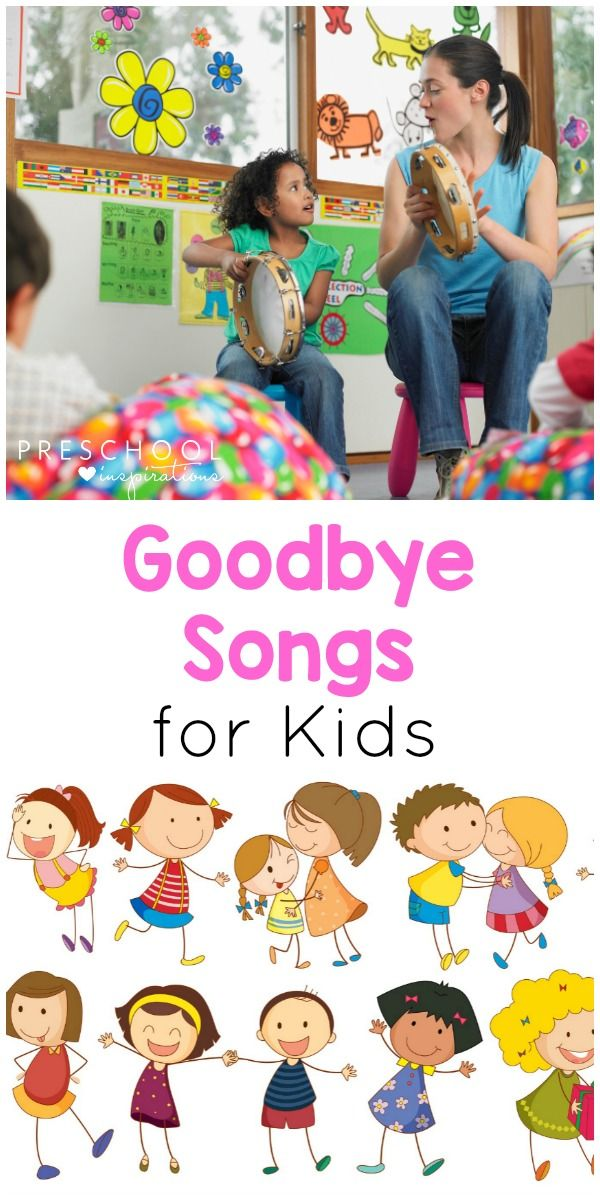 These preschool goodbye songs are perfect kids songs for circle time or as a transition song. A great preschool teacher hack! #preschool #circletime #teacherhack