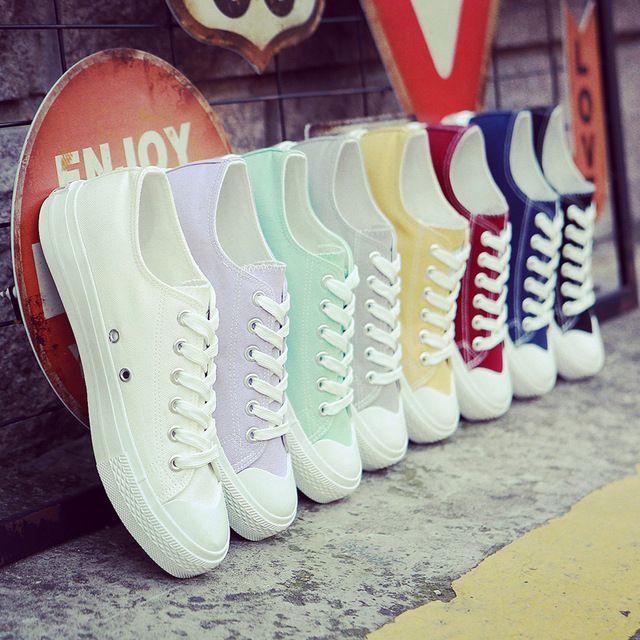Новый колледж белый холст обувь женская весна и лето Корейский белые туфли женские повседневная обувь студенты обувь