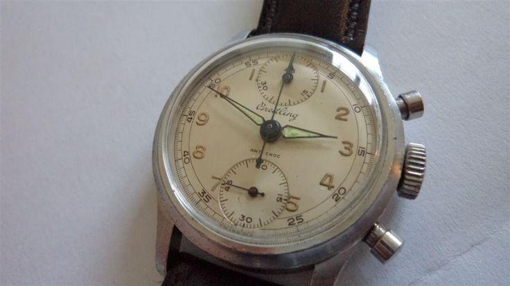 Annons på Tradera: Breitling Kronograf Mekanisk Herrur