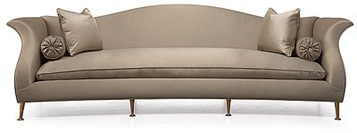Christopher Guy, Le Colbert sofa is stunning with its classic curved back and elegant pinhead metal legs.  I am in love!