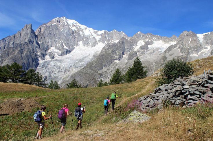 Louise Burpee, Mont Blanc Circuit 'Tour du Mont Blanc' trip  Sweeping meadows, cows, delicious wine and cheese… Oh, and incredible mountain vistas – that's the Mont Blanc region. The hiking isn't too bad either!
