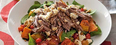 Slow-cooked lamb shoulder with pumpkin and feta salad - TWD Recipe Book