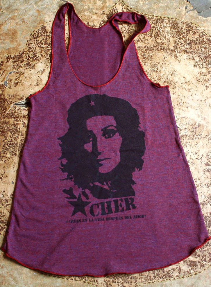 Cher Guevara tank (kinda looks like me) fencingandarchery.com