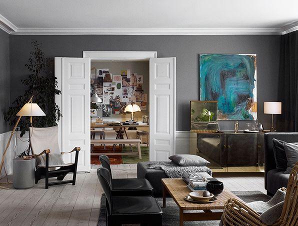 emmas designblogg - design and style from a scandinavian perspective --- Dark walls, light floors.