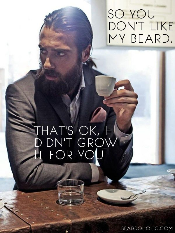 So you don't Like my Beard. That's ok, I didn't grow it for you. Best beard quotes from Beardoholic.com