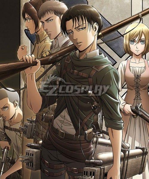 32ee125ef24a Attack On Titan Shingeki No Kyojin Season 3 Levi Ackerman Cosplay Costume   Shingeki