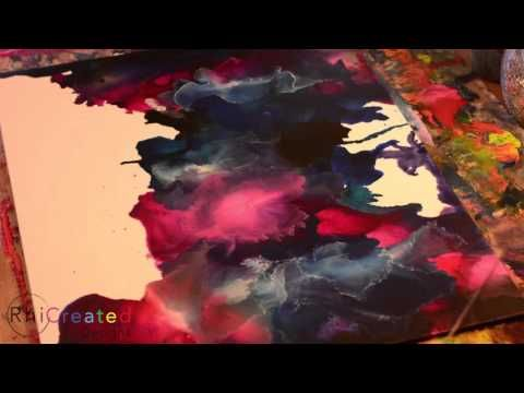 Space - A melted crayon Art piece - YouTube