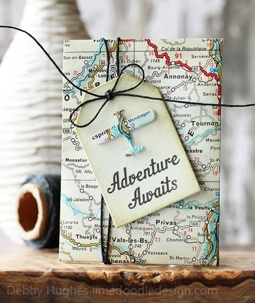 Adventure awaits with this cute and crafty Retirement Gift Card Holder. More Retirement Party Gifts and Ideas on Frugal Coupon Living.