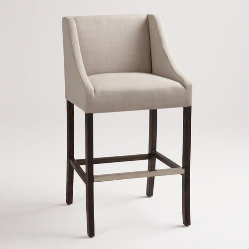 Linen Hayden Barstool..possible choice for the bar.  comfy in the store, really like the sides.