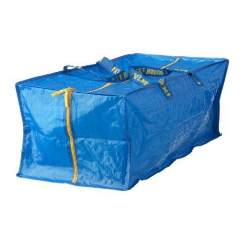 FRAKTA トロリー用バッグ IKEA 手提げやリュックにして使ったり、FRAKTA/フラクタ トロリーに載せて使えます お手入れが簡単です。水で洗ったあと自然乾燥させてください 使わないときはコンパクトにたためます ゴミの分別にも便利です