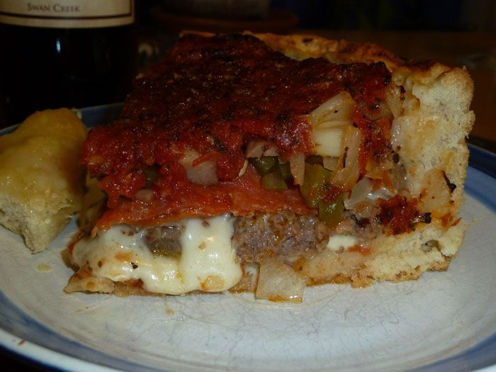 annies home: Deep Dish Pizza Chicago Style