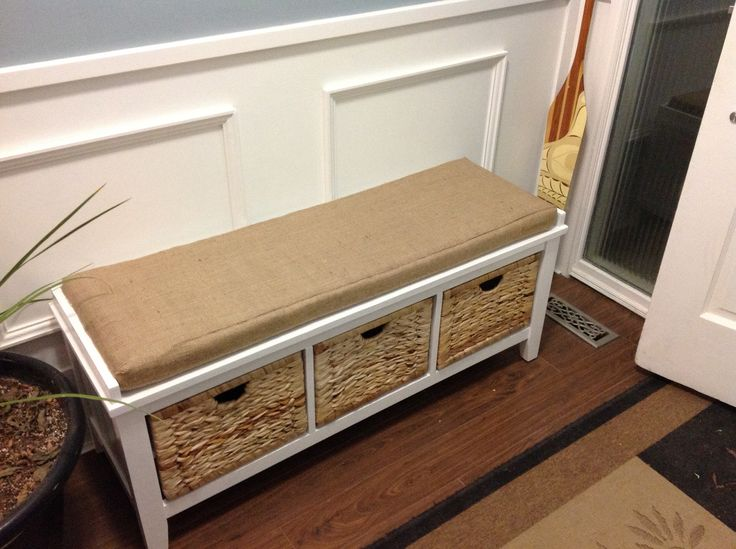 Bench From Canadian Tire That We Repainted Bright White