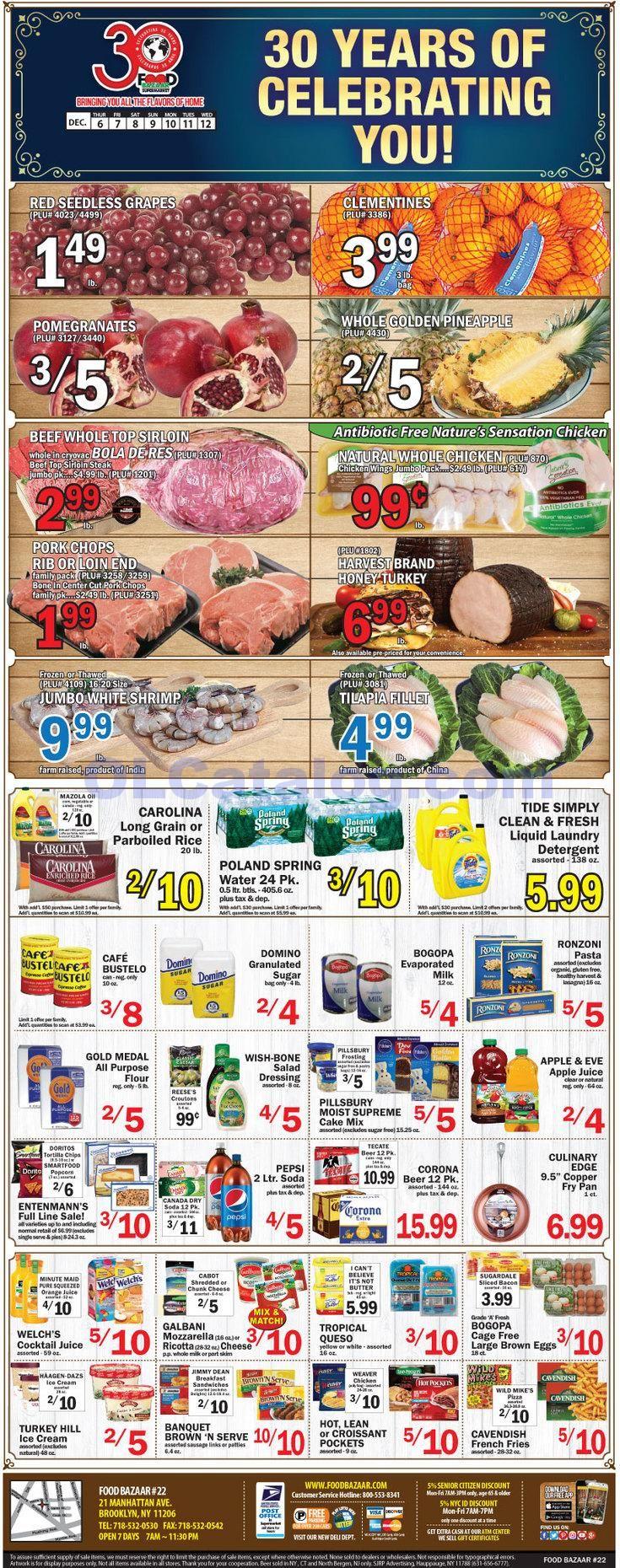 Food bazaar weekly ad december 6 12 2018 do you know