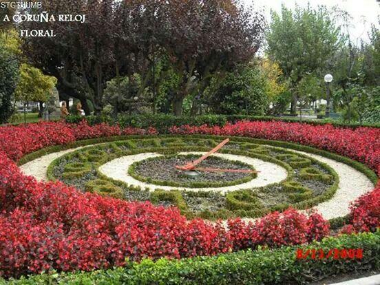A Coruña. Reloj floral