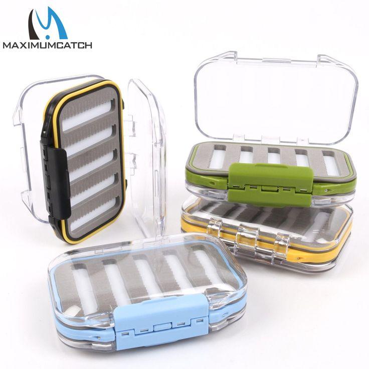 Maximumcatch Waterproof Fly Fishing Box With Slit Foam Fish Lure Hook Bait Fly Box Fishing Tackle Box