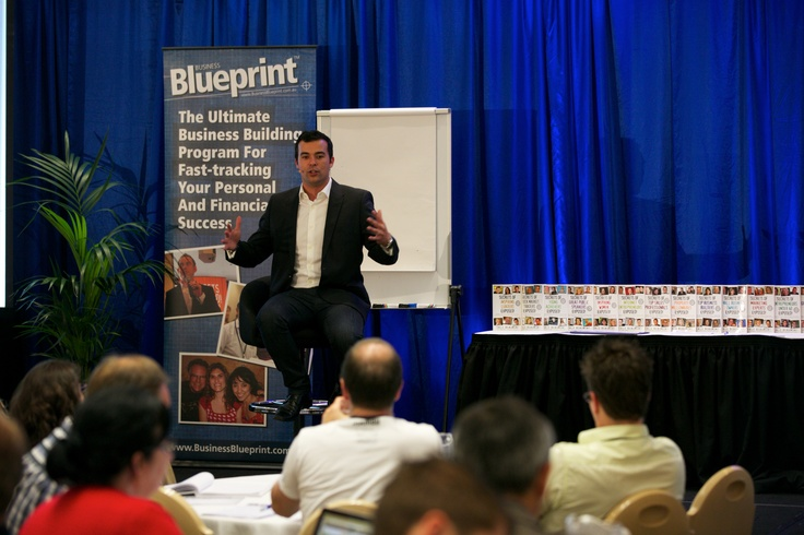 Dale Beaumont on Stage at Business Blueprint