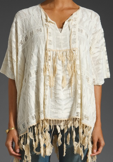 Anna Sui Feather Lace Tunic