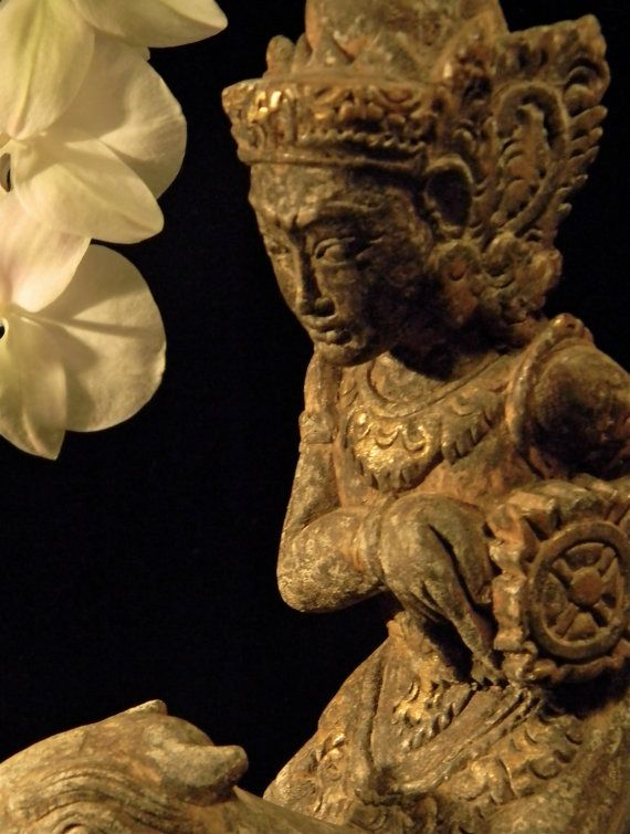 Serene Vintage Indian Deity Statue by luxethnic on Etsy, $389.00. SOLD