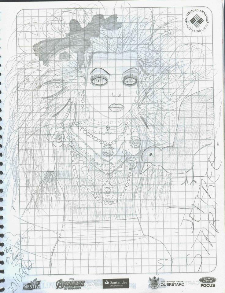 jeffree star~ me encanta su forma de maquillarse y vestirse *w* dibujo hecho por mi :3