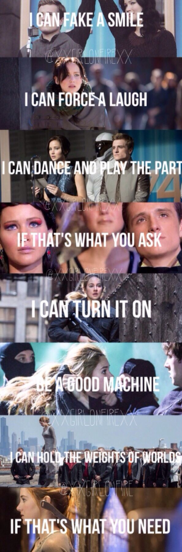 BUT IM ONLY HUMAN. AND I BLEED WHEN I FALL DOWN. I'm so convinced this song needs to be in insurgent!! Comment if you agree!!