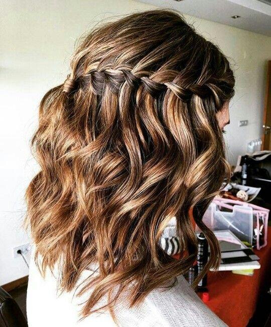 Trança cascata cabelo curto | Cabelo de 2019 | Pinterest | Penteado cabelo curto, Trança cabelo curto e Penteados