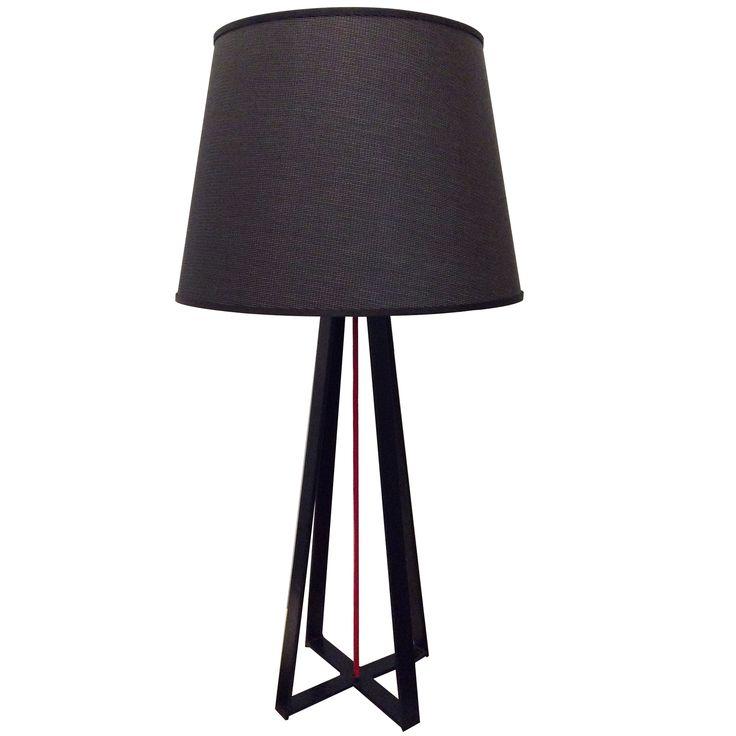 Lámpara de mesa Columbia con cable de tela rojo. #diadelpadre www.solsken.com.ar