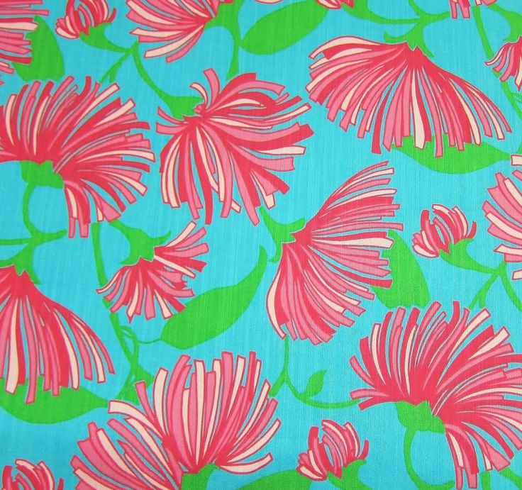 New Lilly Pulitzer Cotton Dobby  Fabric KISSUE 1 Yard #LillyPulitzer