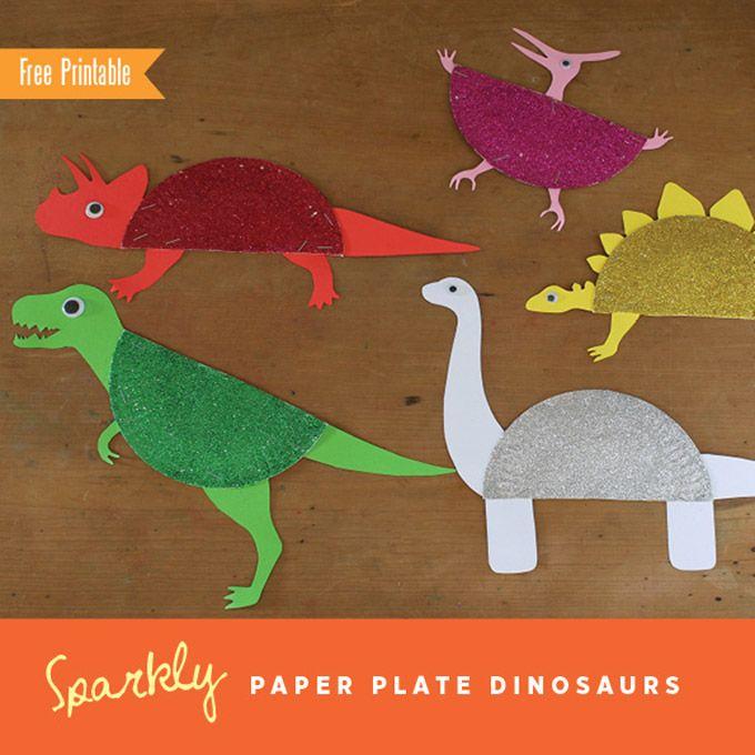 Paper Plate Dinosaurs // Dinosaurios con platos de papel