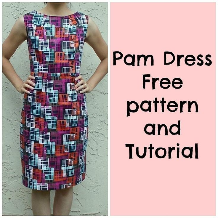 PAM - FREE Dress Pattern on http://www.craftsy.com/pattern/sewing/clothing/pam-dress-free-pattern/99148 This is the Pam dress. 50's inspired with a modern look. The fitted shape together with the midi length of the skirt will flatter every women's body.