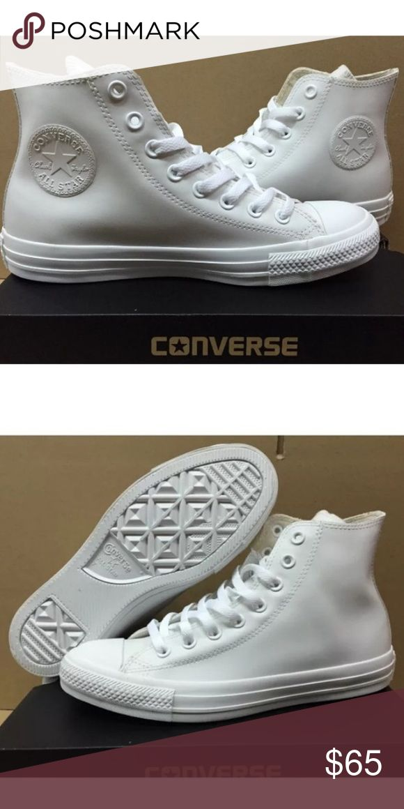 All white leather converse Chuck Taylor's Brand new without box Converse Shoes Sneakers