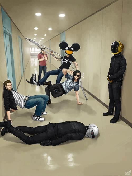 Zedd, Skrillex, Deadmau5, and Daft Punk are my favorite electronic/dubstep artists that drop the bass like a hot potato.